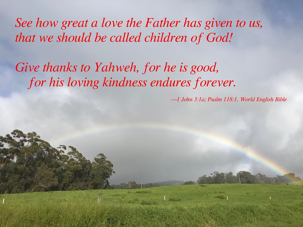 His loving kindness endures forever