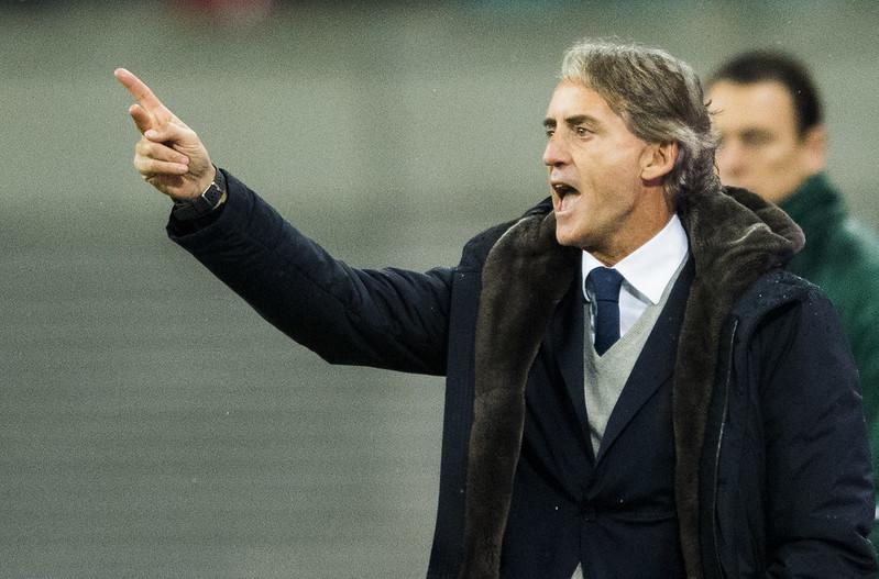 Roberto Mancini表示要相信國家隊能重返世界強權之林。(AFP授權資料照)