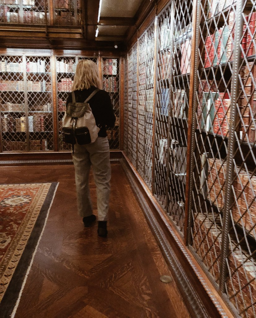 exploring in a library