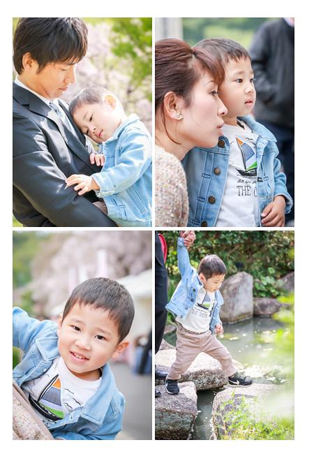 女の子の小学校入学記念の家族写真撮影 プロカメラマンがフラワーパーク(名古屋市守山区)でロケーション撮影