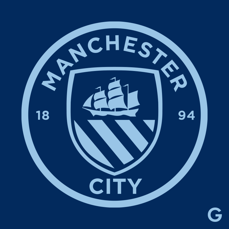 Manchester City FC Minimalistic Logo