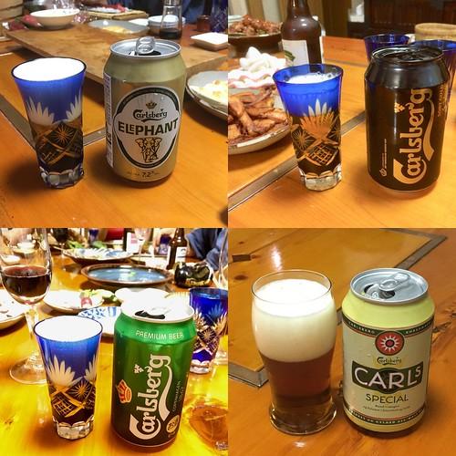 ビール:カールスバーグ4種