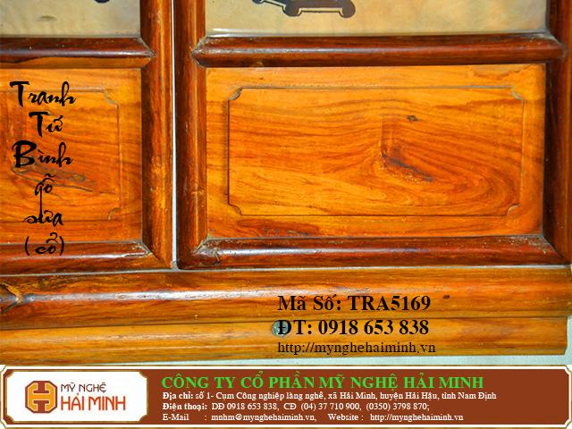 TRA5169c Tranh Tu Binh go Sua Co do go mynghehaiminh