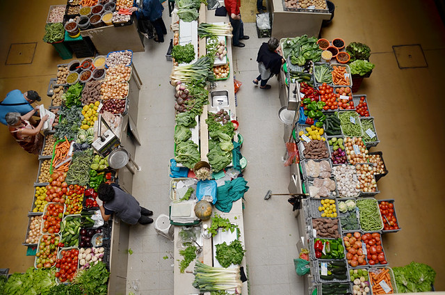 The Market from above, Coimbra