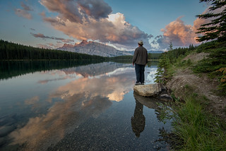 Standing Around Two Jack Lake | by `James Wheeler