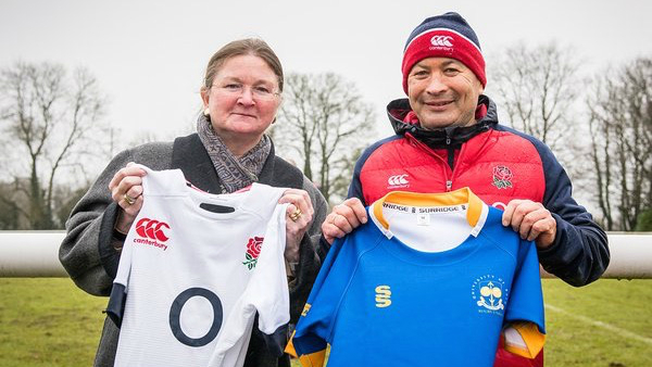 The Vice-Chancellor with England Head Coach Eddie Jones