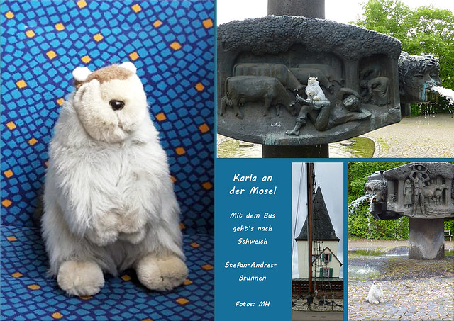 Reise-Murmeltier Karla Kunstwadl unterwegs an der Mosel ... Mai 2018