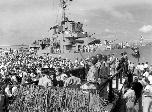 ... Close up view of the dedication at Canaveral Harbor - Cape Canaveral |  by State Library