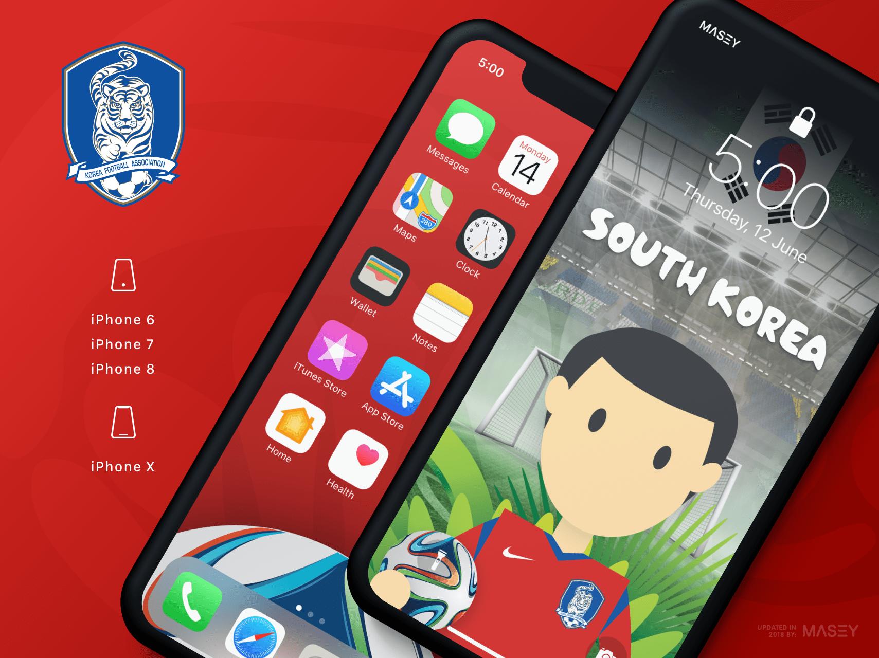 Team South Korea iPhone Wallpaper