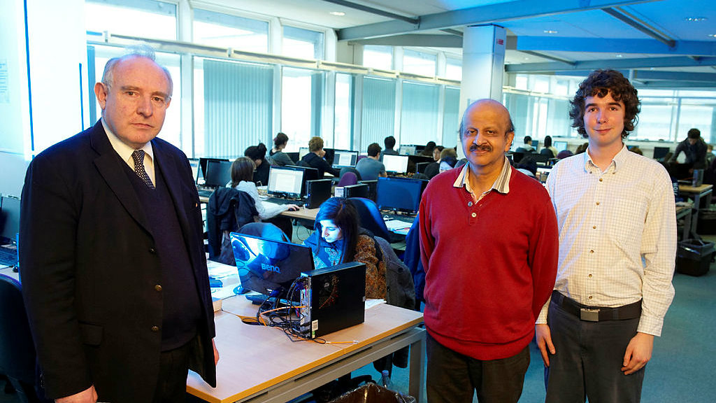 Dr Miles Redfern, Professor Raj Aggarwal and KTA Fellow Benjamin Williamson manage the research project