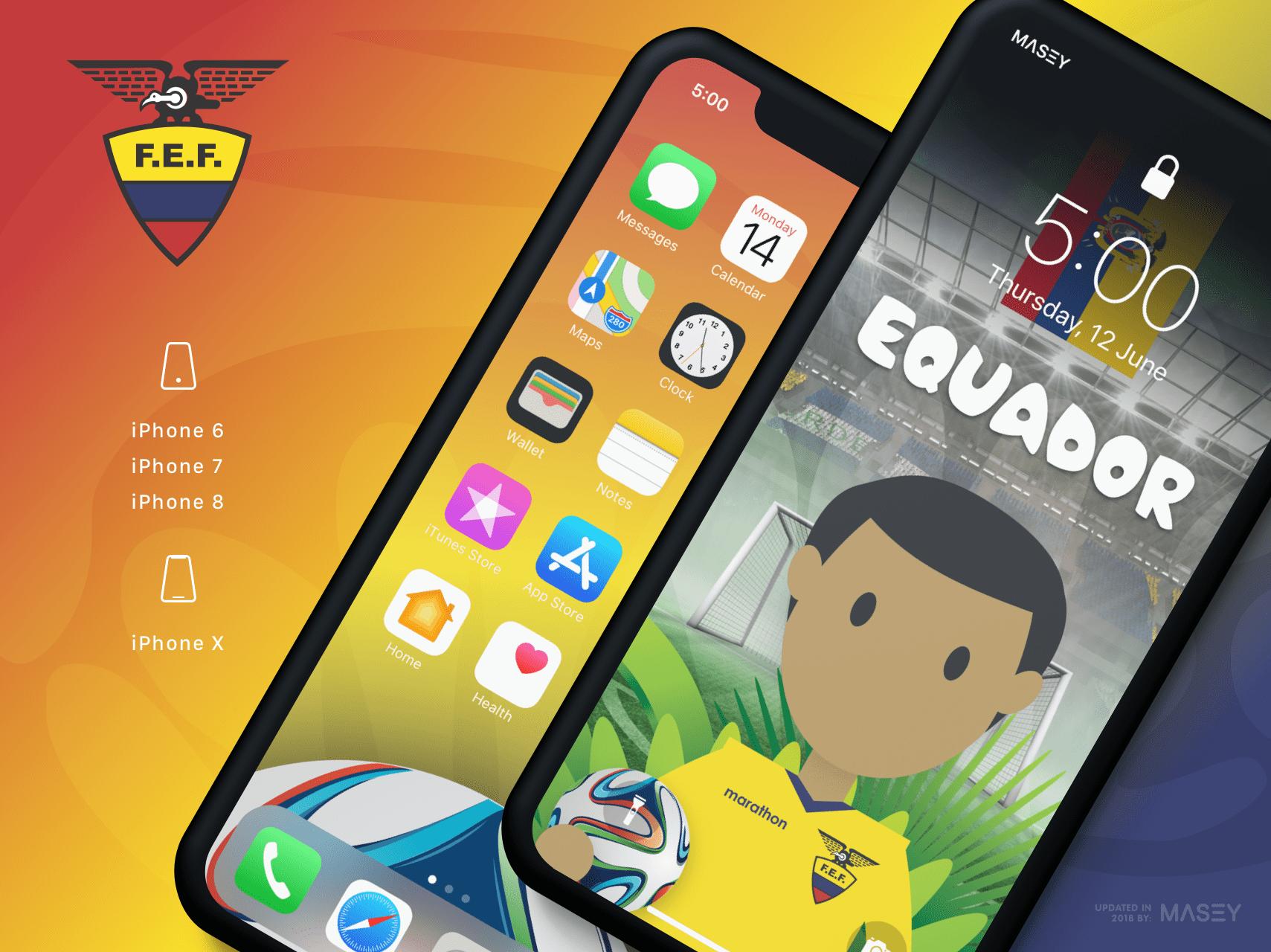 Team Equador iPhone Wallpaper