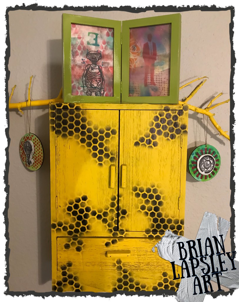 """Repurposing"""" I turned a old cabinet into a wall art piece…   Flickr"""