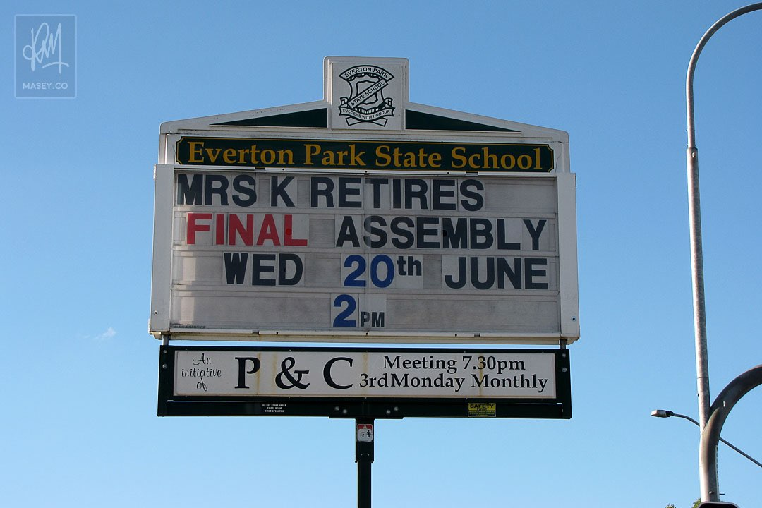 Mrs K's retirement assembly