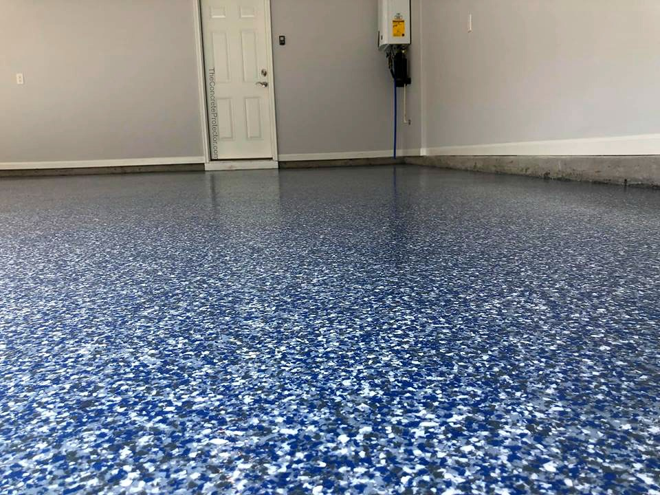 Epoxy Flake Garage Floor Cape Fear Concrete Coatings Lel