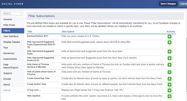 Facebook Extensions
