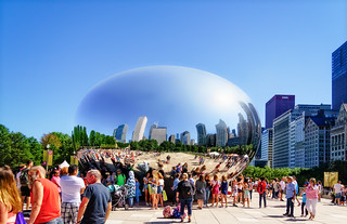 Cloud Gate on a cloudless day | by Tigra K