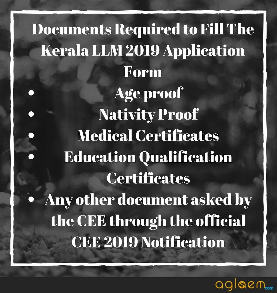 Kerala LLM 2019 Application Form