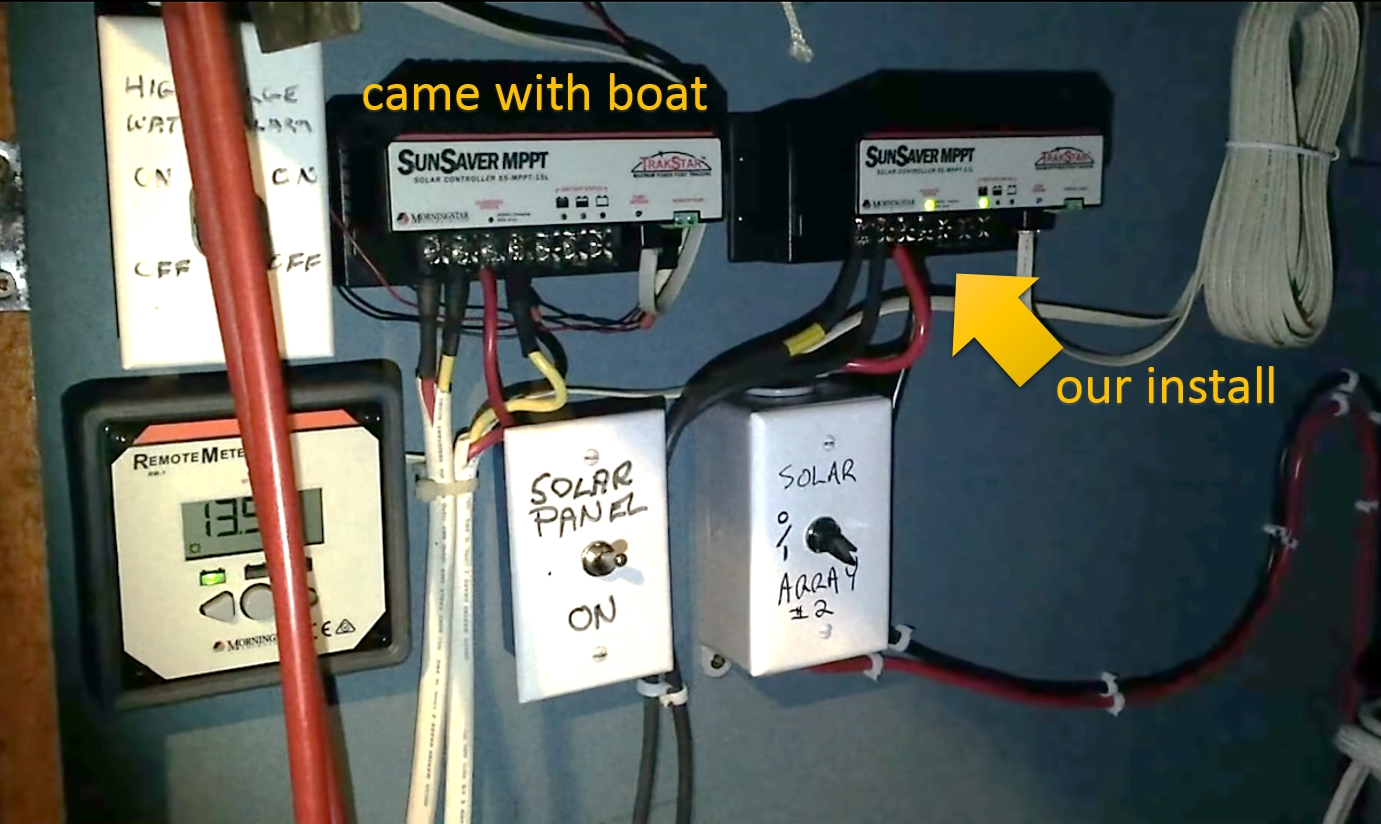 How To Install Solar Panels On A Boat Ep24 Saltwest Co Electrical Wiring Pinterest Wire And Finished You Want Be Confident That The Maximum Power Delivery Of Your Is An Amount Charge Controller Can Safely Handle