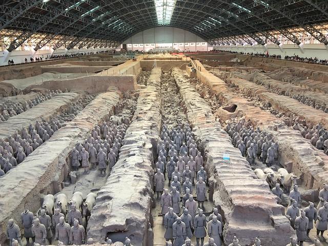 Pabellón 1 del Museo de los guerreros de terracota en Xian (China)