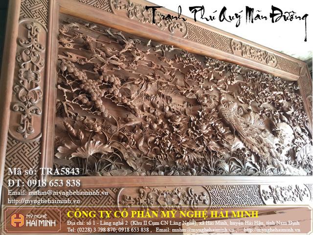 Tranh go Phu Quy Man Duong do go mynghehaiminh TRA5843c