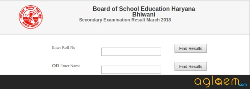 HBSE 10th Result 2018 Roll Number Wise