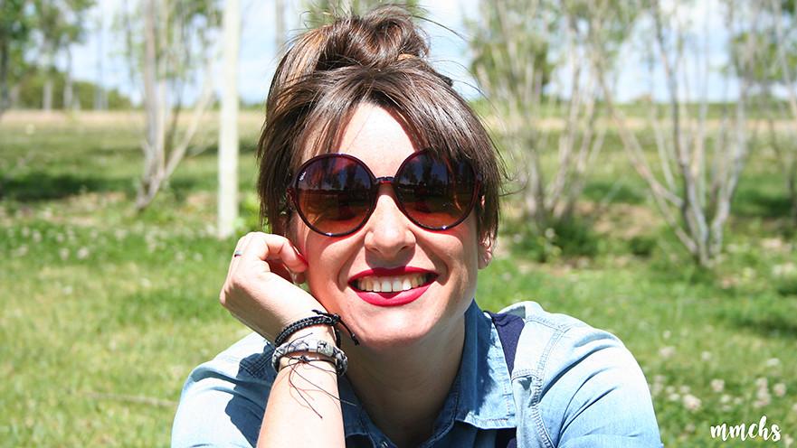 gafas de sol rojas de mujer XL