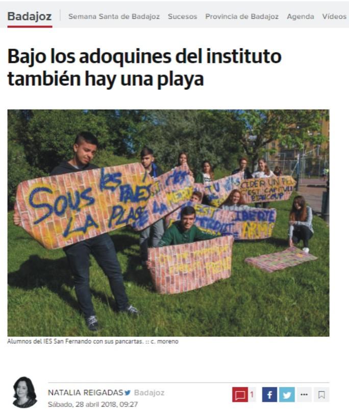 Enlace a la noticia en el Diario Regional HOY