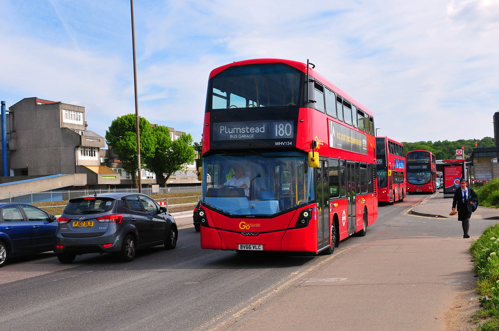 Go Ahead London Bus Whv154 Working On Route 180 Is Seen Le