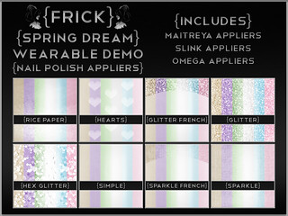 {Frick} Spring Dream Nail Polish Appliers - Wearable Demo | by {Frick}