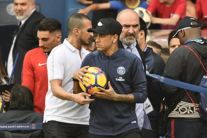 Neymar重新投入訓練行列。(AFP授權)