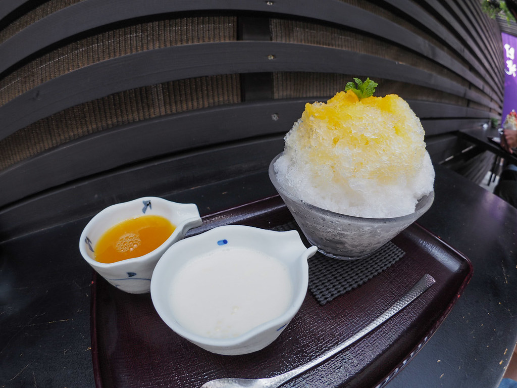 Japanese Ice Shaved Dessert - Summer Orange (with Rare Cheese Sauce)