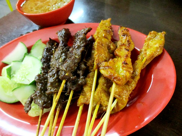Colourful Cafe beef & chicken satay 1