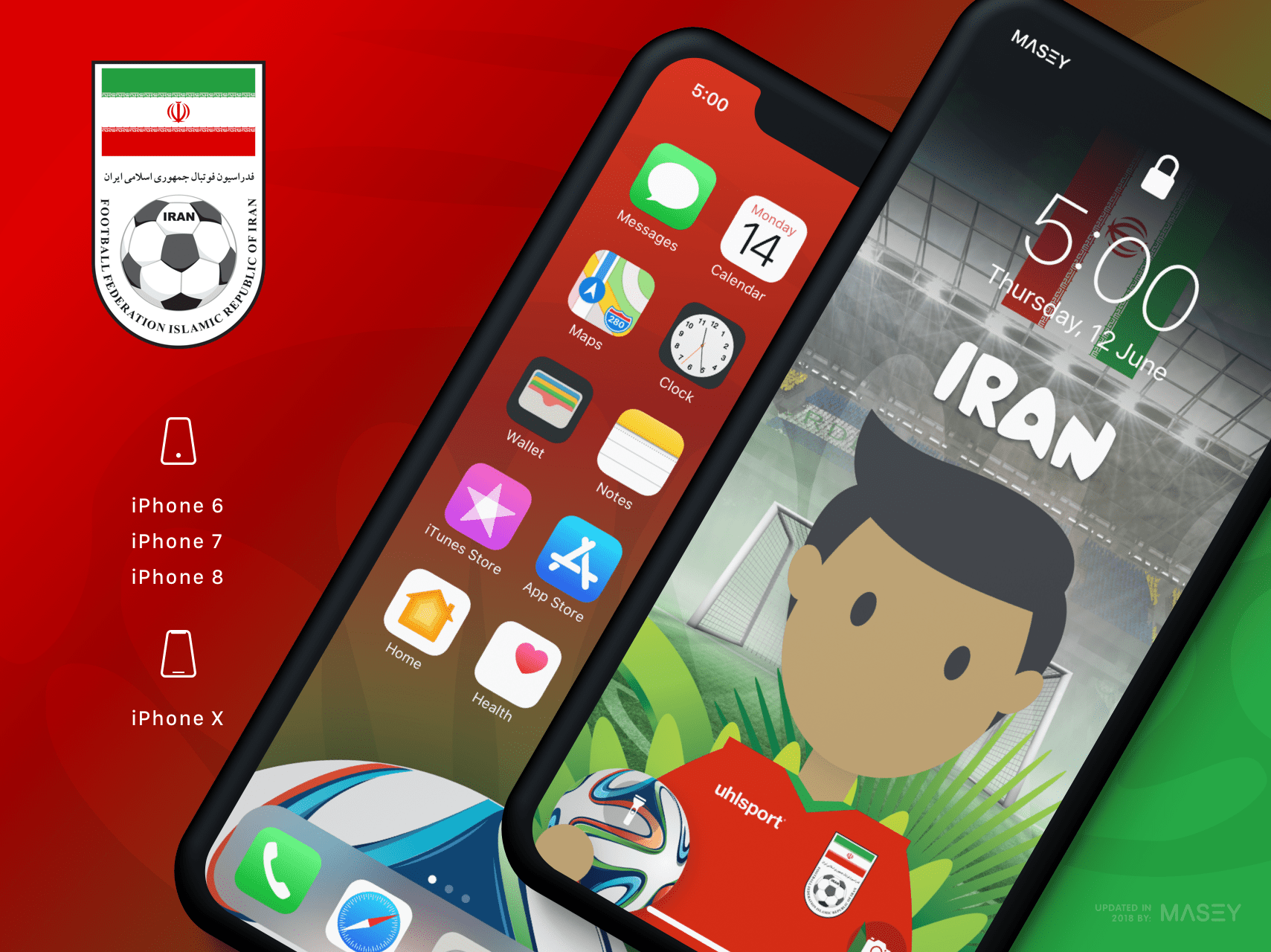 Team Iran iPhone Wallpaper