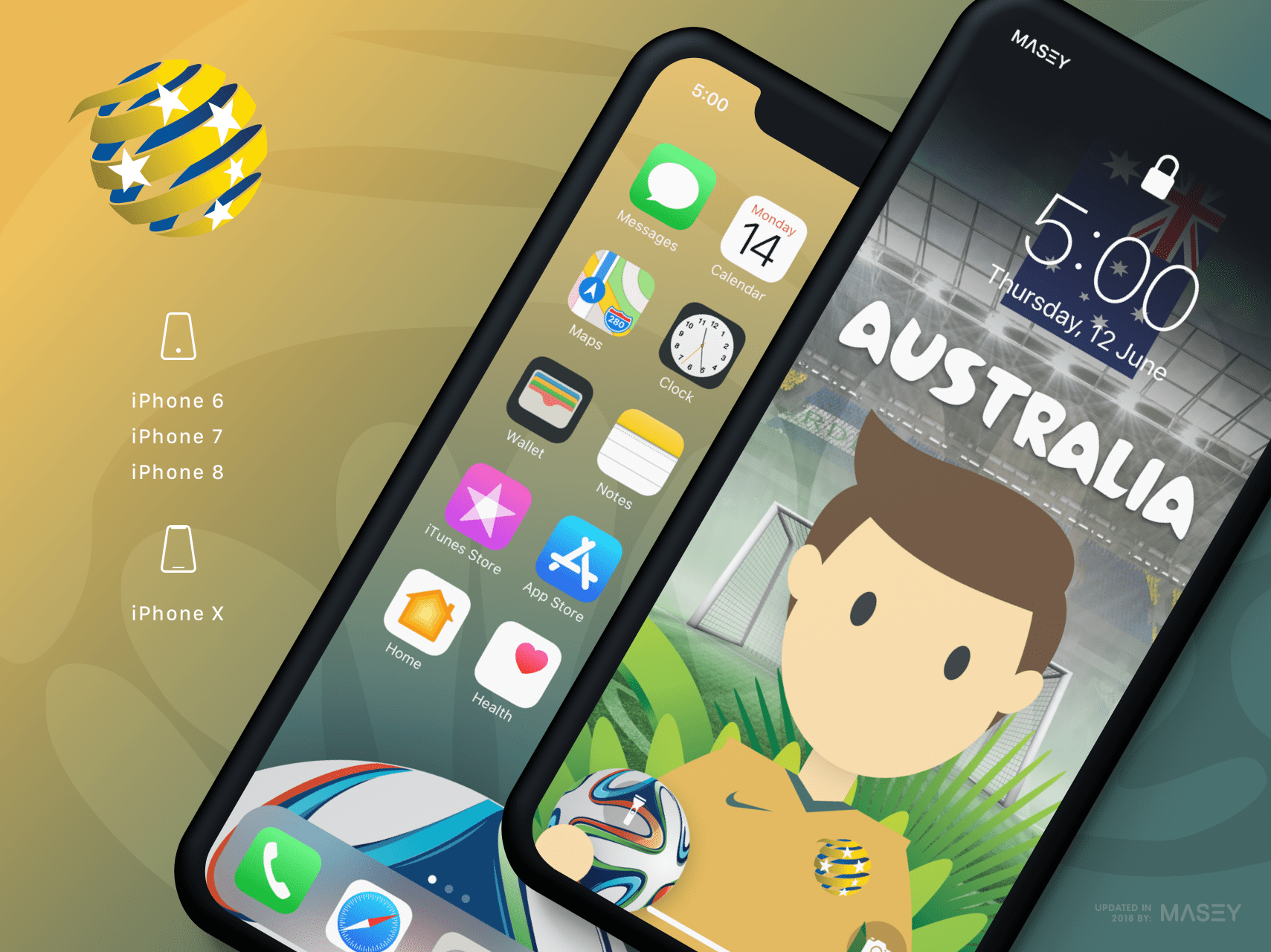 Team Australia iPhone Wallpaper
