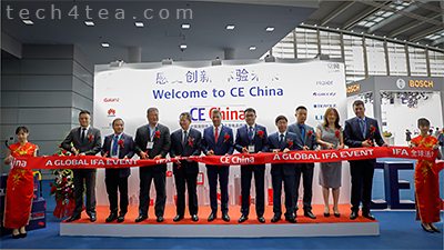 Ribbon cutting at the opening ceremony of CE China 2018 at the Shenzhen Convention & Exhibition Center in China.