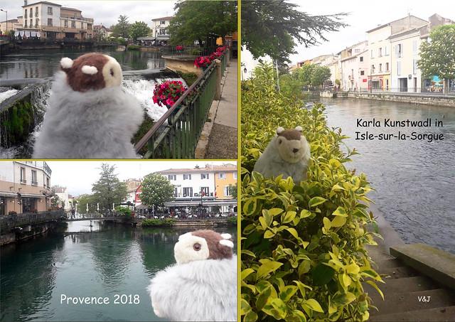 Karla Kunstwadl in der Provence ... L' Isle-sur-la-Sorgue ... Foto(s): V&J
