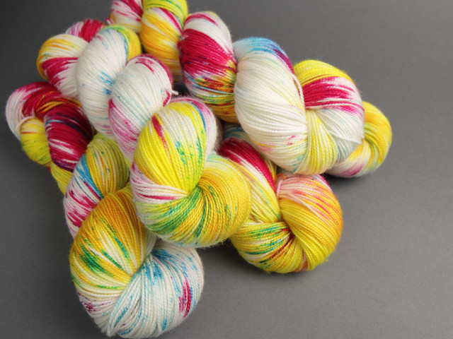 Favourite Sock – hand-dyed pure merino superwash wool 4 ply/sock yarn 100g – 'Paradise'