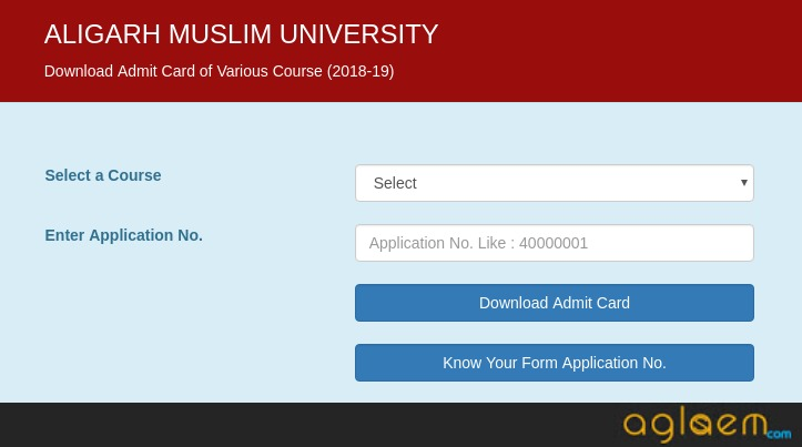 AMUEEE 2019 Admit Card