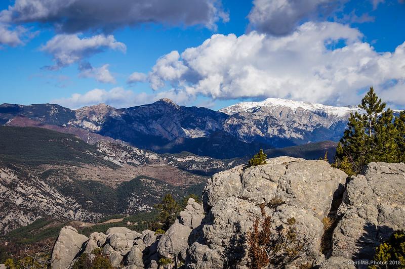 Serra del Moixerò desde el mirador de Els Graus