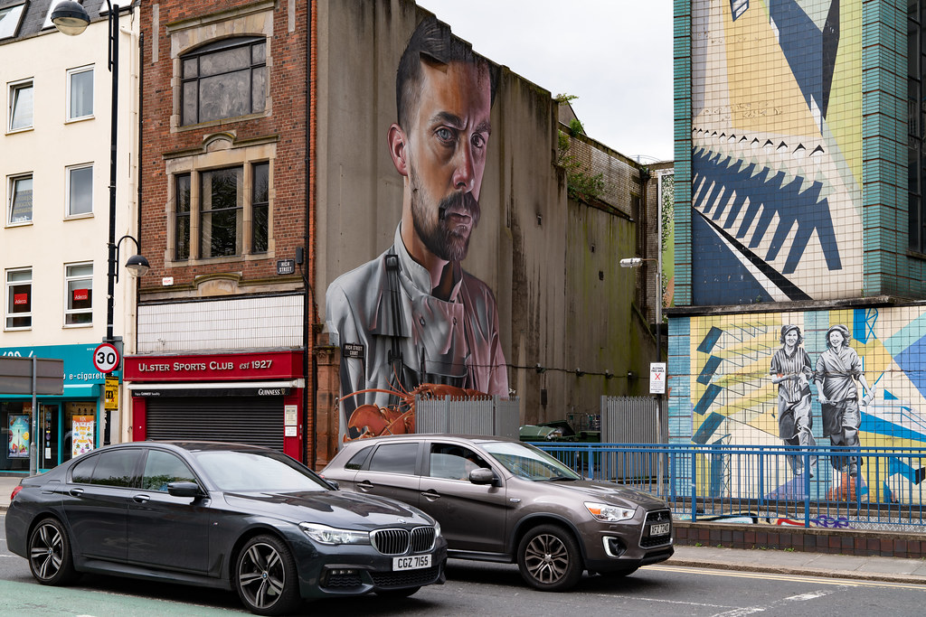 A large portrait by Smug One In Belfast 002