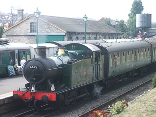Steam train in Swanage