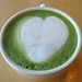 Heart-Shaped Matcha Latte