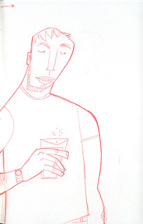 sketch of guy with drink | by wardomatic