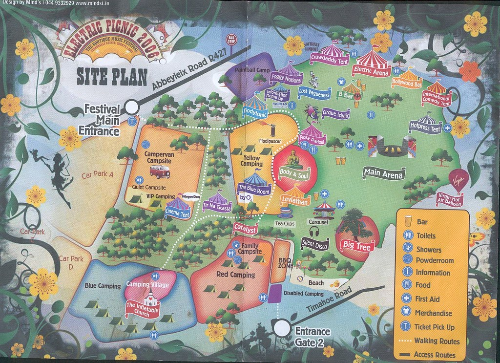 Site Map Electric Picnic 2006