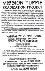 Mission Yuppie Eradication Project poster, circa 1999 | by Telstar Logistics