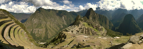 Panorama over Machu Picchu from below the Gatehouse | by goneforawander