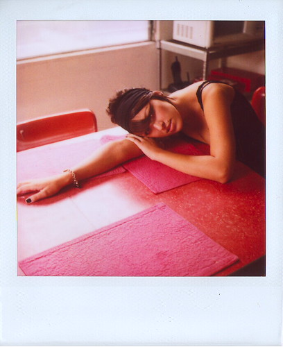Marcy, Laying on the Table | by Lou O' Bedlam