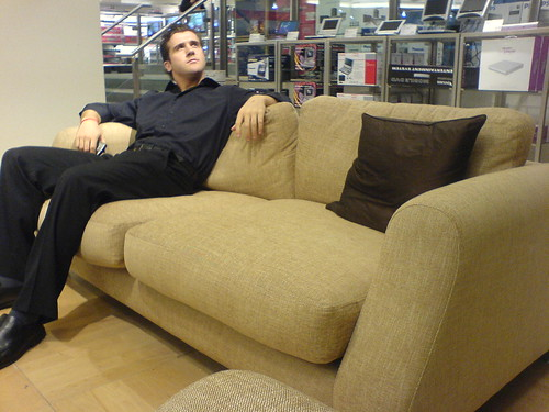 Matt posing on a sofa... | by Matt Seppings