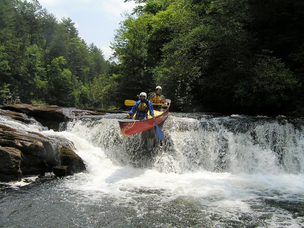 White water canoeing