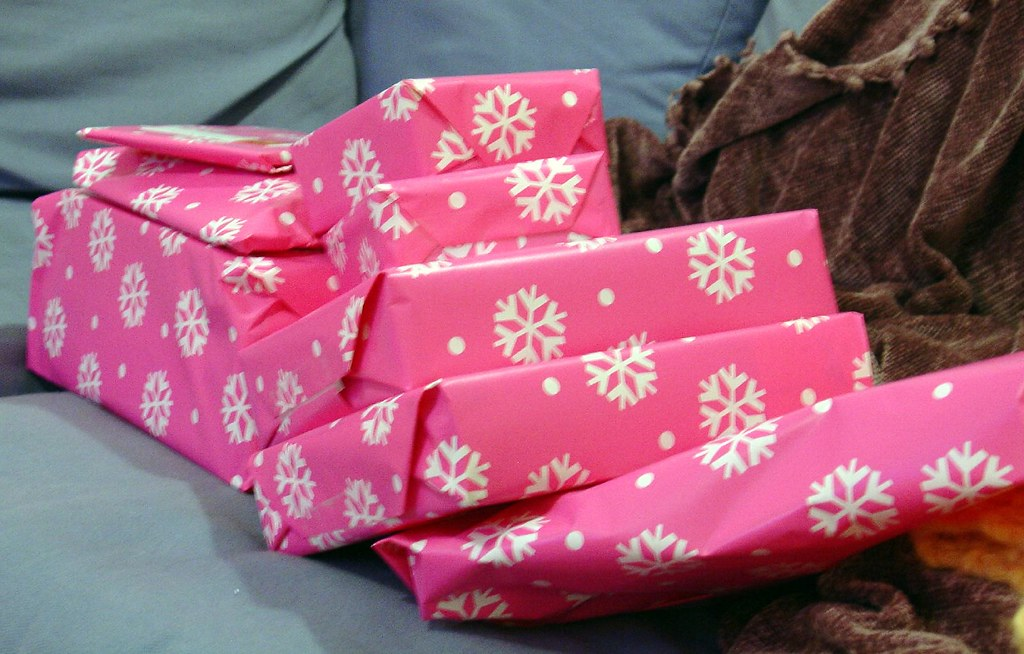 pink christmas presents by moknits pink christmas presents by moknits
